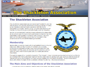 The Shackleton Association - Produced using a bespoke non-database CMS